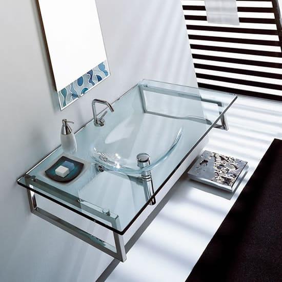 Lavabos Para Baño De Cristal:Lavabo rectangular suspendido de cristal TIFFANY 710 by LASA IDEA