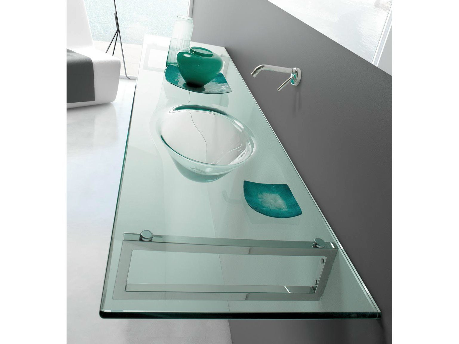 Tiffany lavabo con encimera by lasa idea for Lavabos de cristal