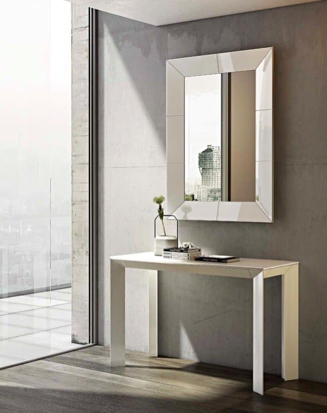 Specchio con cornice smalto by riflessi design riflessi - Smalto a specchio ...
