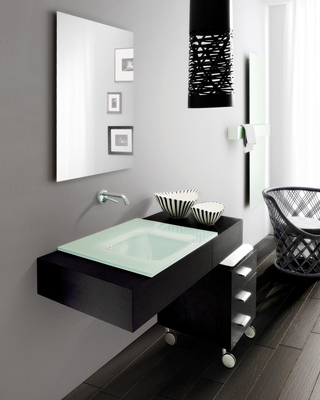 Meuble sous vasque mural avec tiroirs mariposa 15 by lasa - Meuble sous vasque design ...
