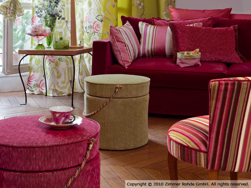 ... Tissu D 39 Ameublement En Coton Rayures Babylone By Zimmer For Nettoyeur  Tissus D Ameublement ...