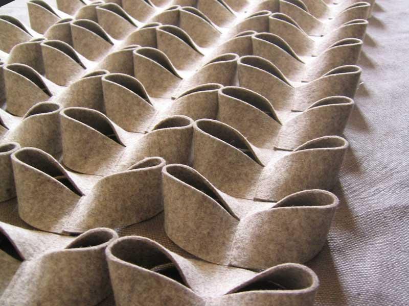 panneaux acoustiques d coratifs en feutre de laine hoop by anne kyyr quinn design anne kyyr. Black Bedroom Furniture Sets. Home Design Ideas