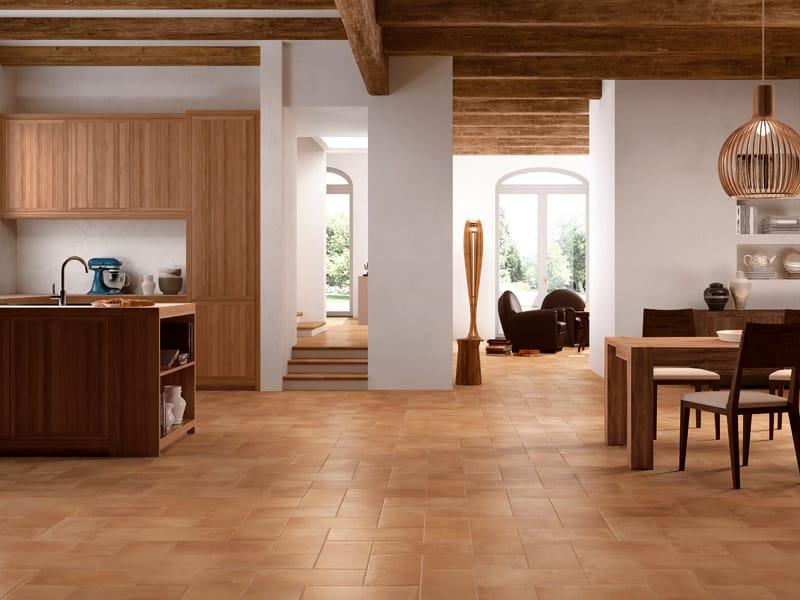 Pavimento de barro cocido para interiores y exteriores - Gres rustico para interiores ...