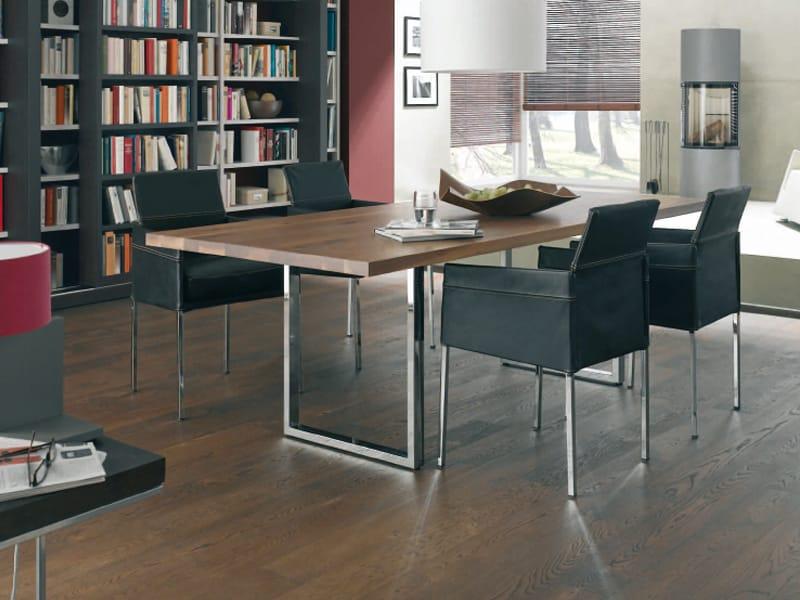 vegas solid wood table by kff