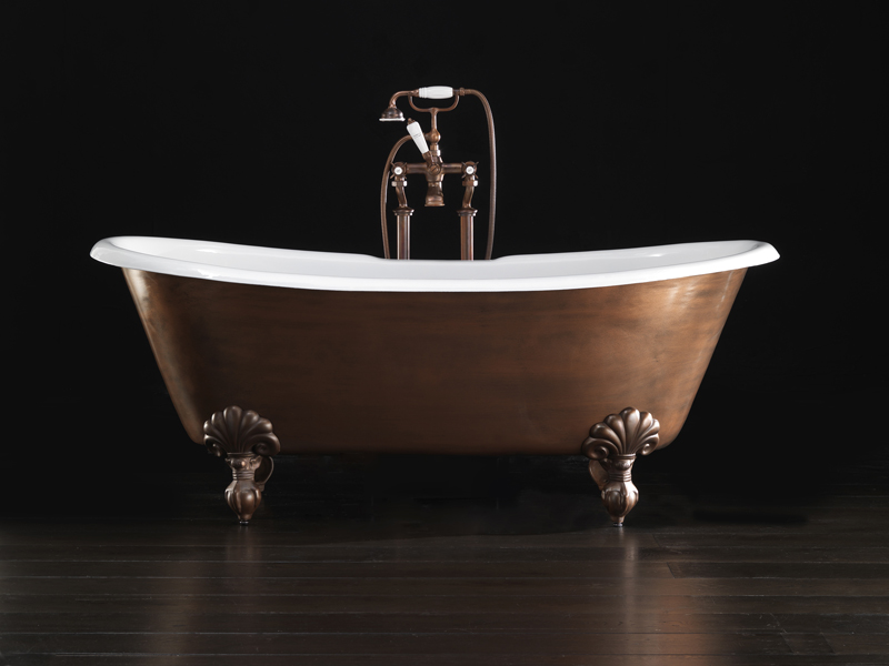 freestanding cast iron bathtub admiral copper effect by devon devon. Black Bedroom Furniture Sets. Home Design Ideas