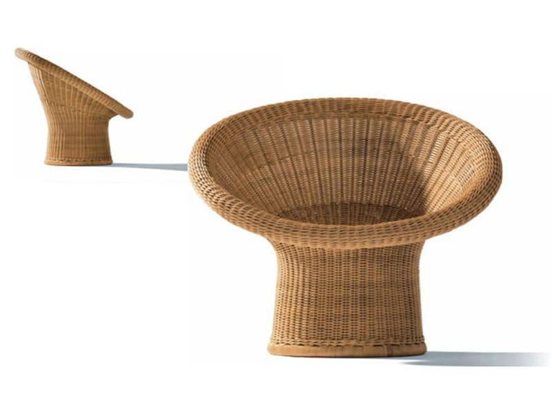 Poltrona in rattan e 10 by richard lampert design egon for Korbsessel design
