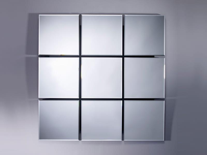 Miroir carr quarto by deknudt mirrors for Miroir carre noir