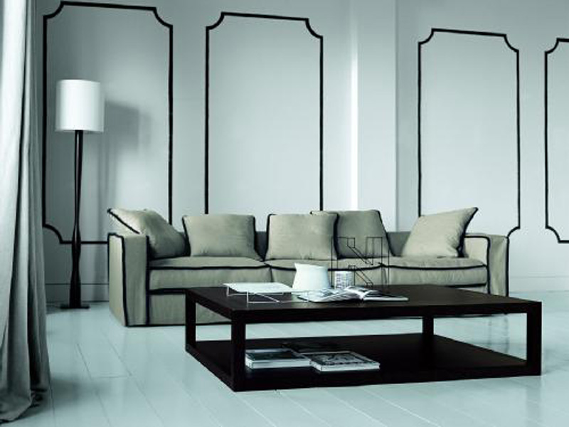 LOW SQUARE COFFEE TABLE FOR LIVING ROOM REN BY CASAMILANO