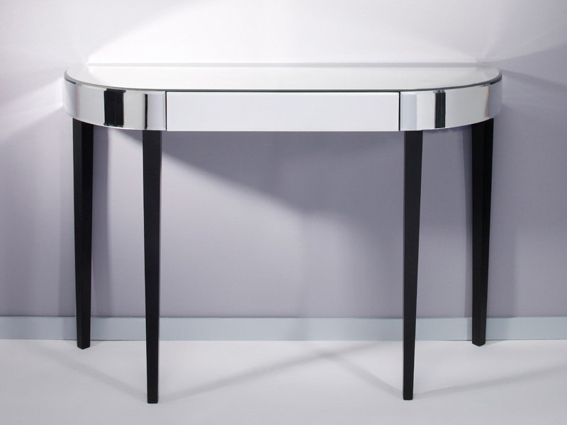 table console en verre miroir avec tiroirs softly by deknudt mirrors. Black Bedroom Furniture Sets. Home Design Ideas