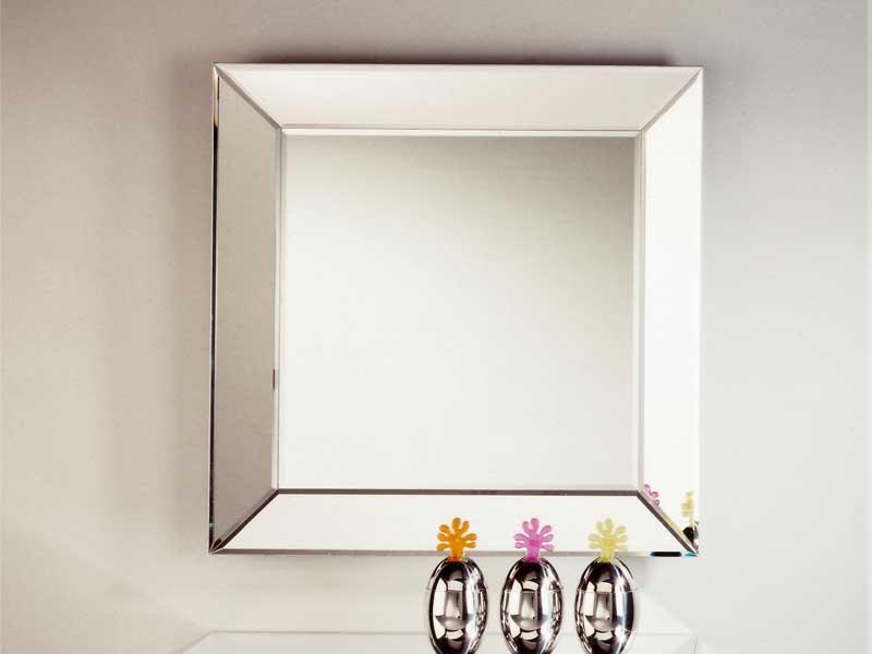 Miroir mural de style contemporain avec cadre integro by for Cadre contemporain