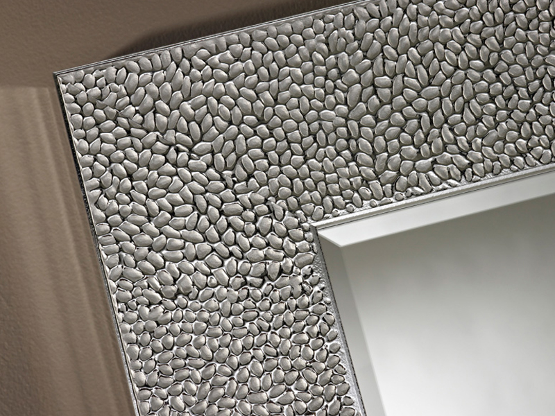 Specchio quadrato rettangolare con cornice oslo silver by for Como decorar un espejo rectangular sin marco