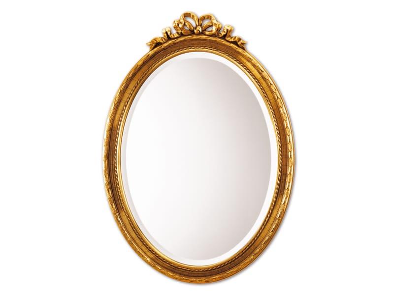 Miroir ovale avec cadre coquette by deknudt mirrors for Miroir ovale
