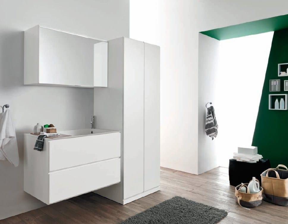 Camerette bianche e blu - Mobili per lavatrice ...