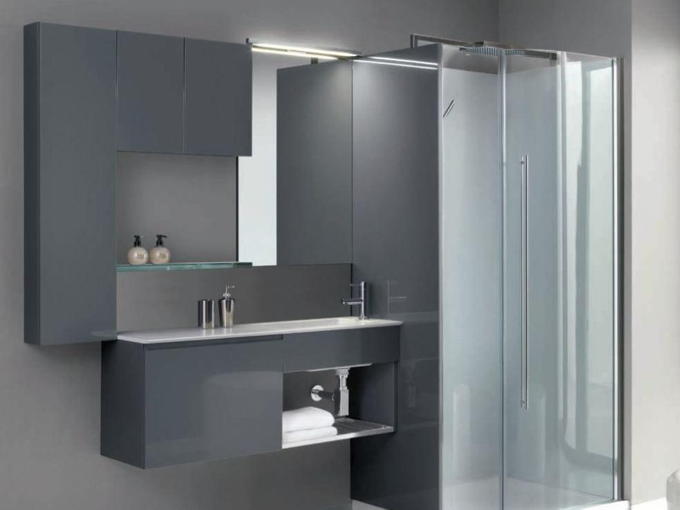 Meuble sous vasque en cristalplant flexia ospite - Meuble sous vasque design ...