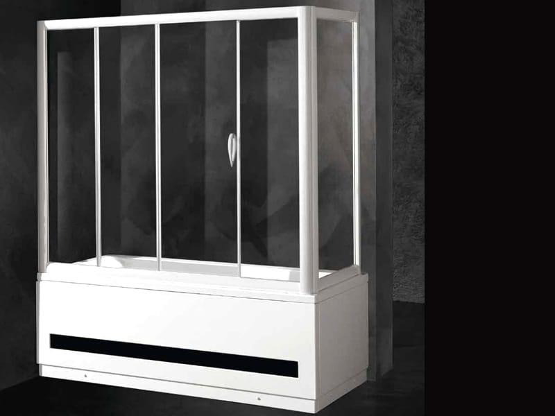 Pare baignoire en cristal loft sc1 v f v by relax - Box x vasca da bagno ...