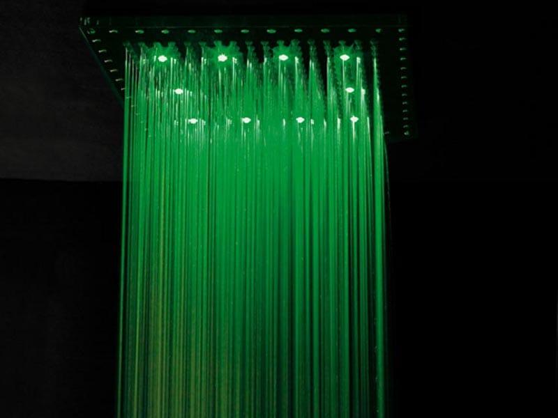 Tête de douche encastrable avec LED pour chromothérapie