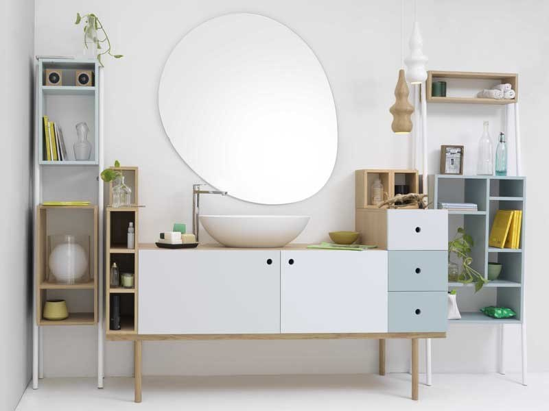 Miroir mural pour salle de bain stone by ex t design studio 63 for Miroir mural salle de bain