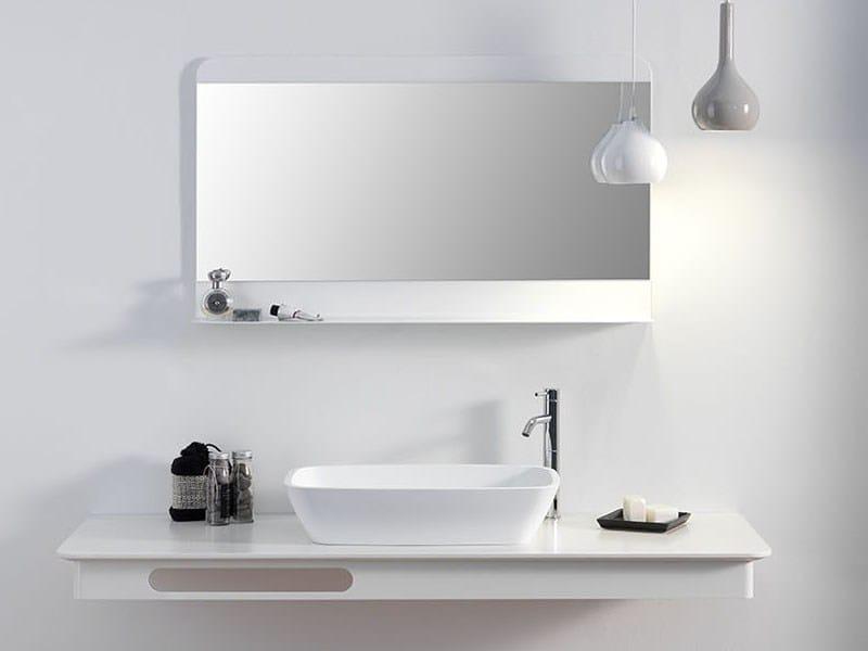 Specchio a parete per bagno foglio collezione foglio by ex t design studio 63 - Termoconvettore a parete per bagno ...