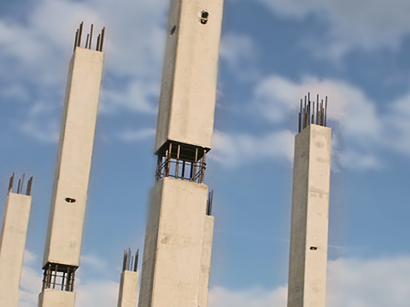 Mixed Steel Concrete Column Supports By Progress