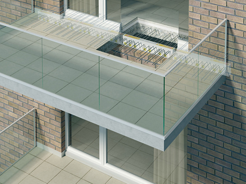 Precast reinforced concrete structural component balconies for Balcony upstand