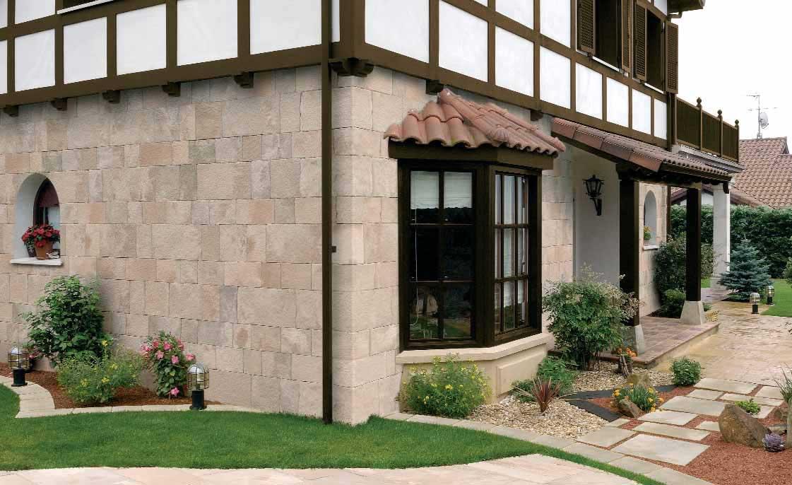 Revestimiento de pared suelo de piedra reconstituida para - Piedra revestimiento exterior ...