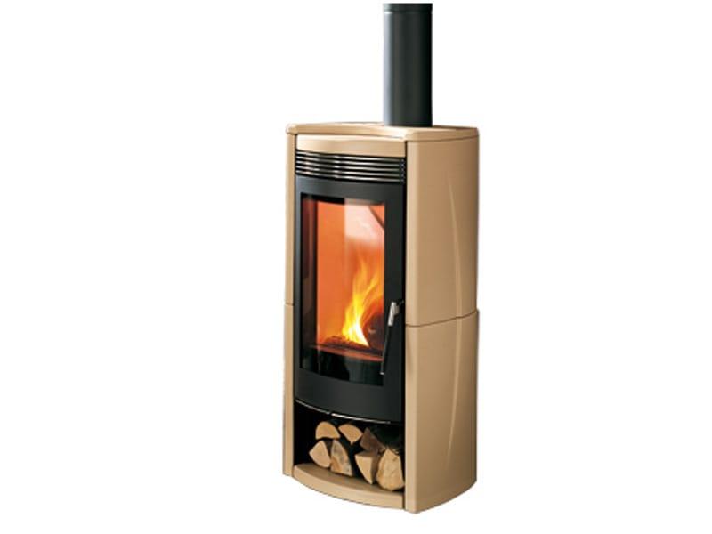Stufa a legna per riscaldamento aria quasar ceramica collezione wood by mcz group - Stufa a legna per riscaldamento ...