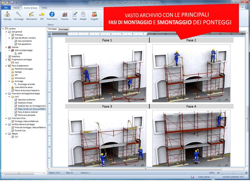 Ponteggio e redazione pimus dlgs 235 03 sicurezza for Software di progettazione edilizia domestica