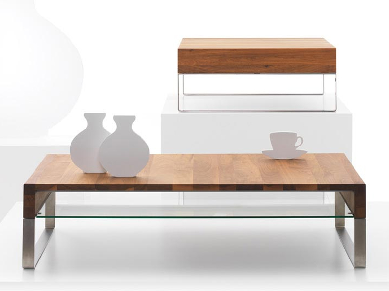 Low wooden coffee table for living room aditi by leolux for Low living room table