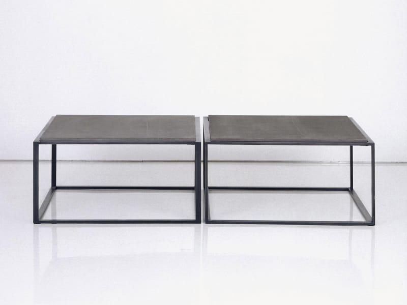 TABLE BASSE EN ACIER CUBE P1020 COLLECTION CUBE BY INTERNI EDITION  DESIGN  -> Table En Cube