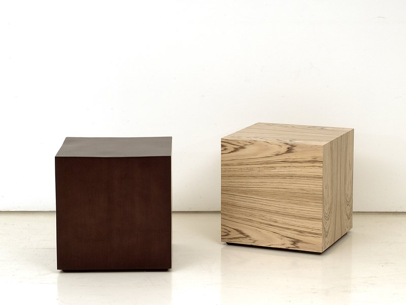 Wooden coffee table CUBE by INTERNI EDITION design Janine Vandebosch, Yves Dever -> Table Basse Cube Bois
