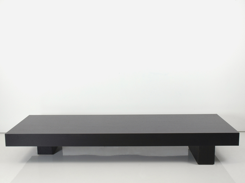 Low wooden coffee table lessness collection by interni for Low coffee table wood