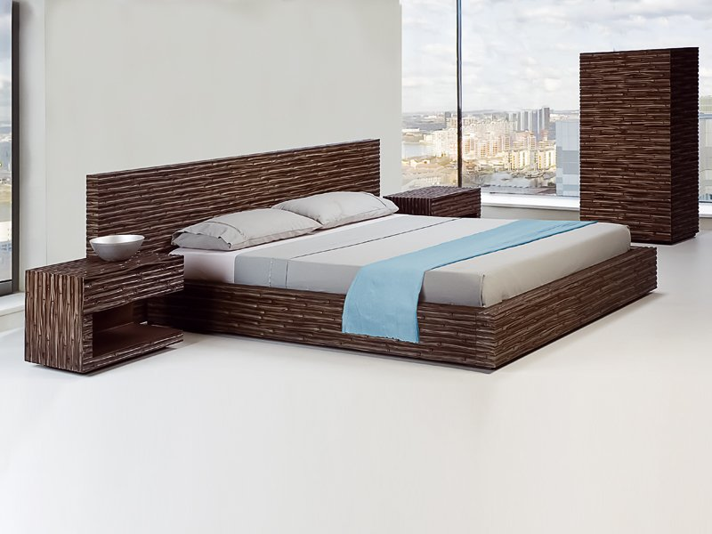 Double bed kabuki collection by kenneth cobonpue design kenneth cobonpue - Bed desine double bed ...