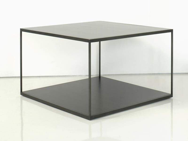 Table basse carrée en acier CUBE MIX by INTERNI EDITION design Janine Vandebosch -> Table En Cube
