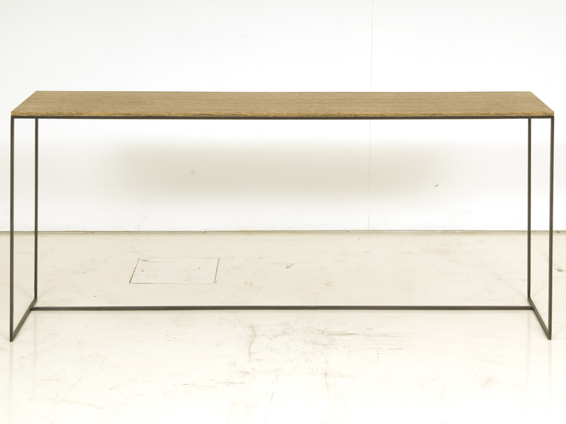 Rectangular wooden console table gigogne by interni for Table gigogne
