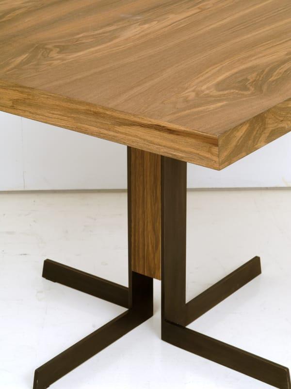 Wooden dining table denver by interni edition design for Table 6 brunch denver