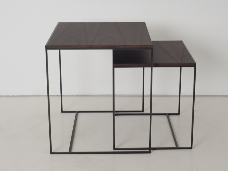 Stackable wooden coffee table cube gigogne cube collection by interni edition - Tables gigognes bois ...