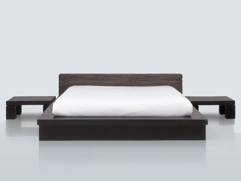 NATURAL FIBRE DOUBLE BED HUKET BY INTERNI EDITION  DESIGN YVES DEVER