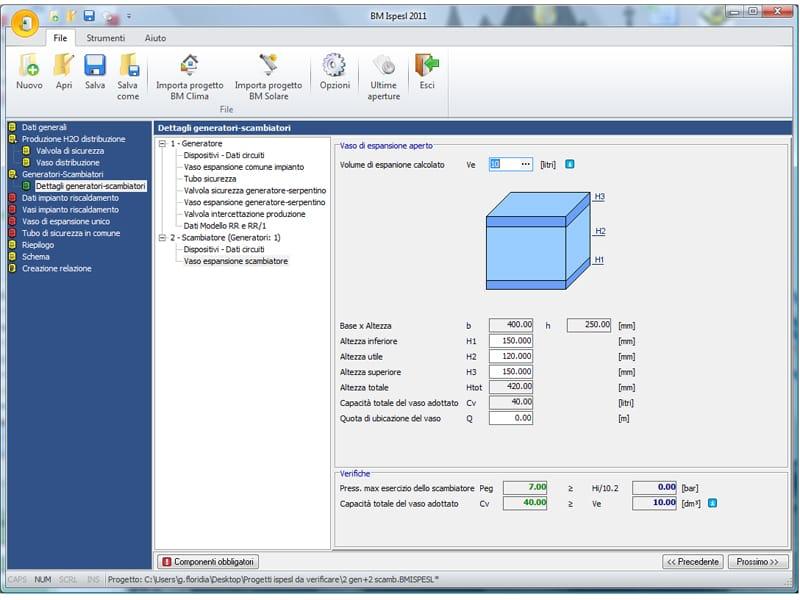 Denuncia impianto termico ispesl ispesl by edilizia for Software di progettazione edilizia domestica