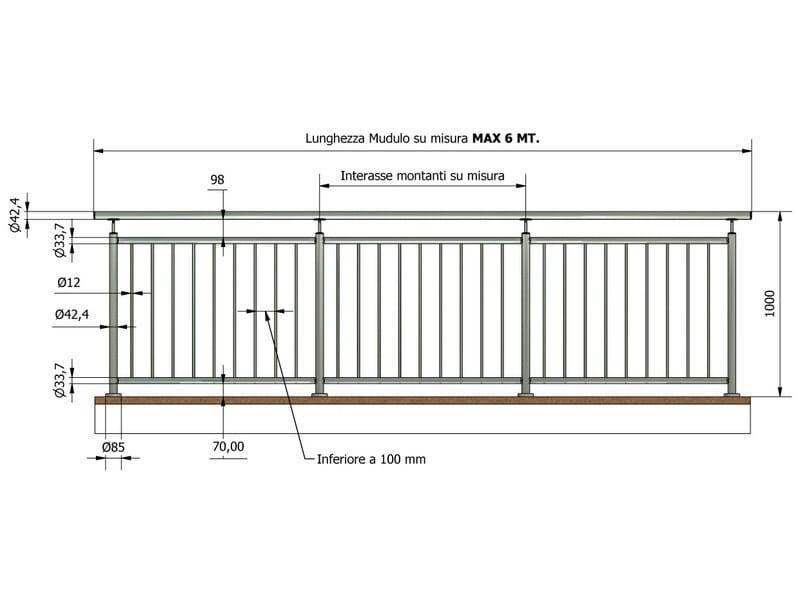 garde corps en acier inoxydable eva by inox forniture. Black Bedroom Furniture Sets. Home Design Ideas
