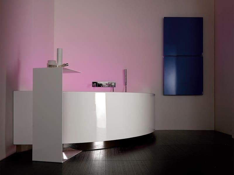 Vasca da bagno angolare grande angolo by kos by zucchetti - Vasca da bagno grande ...