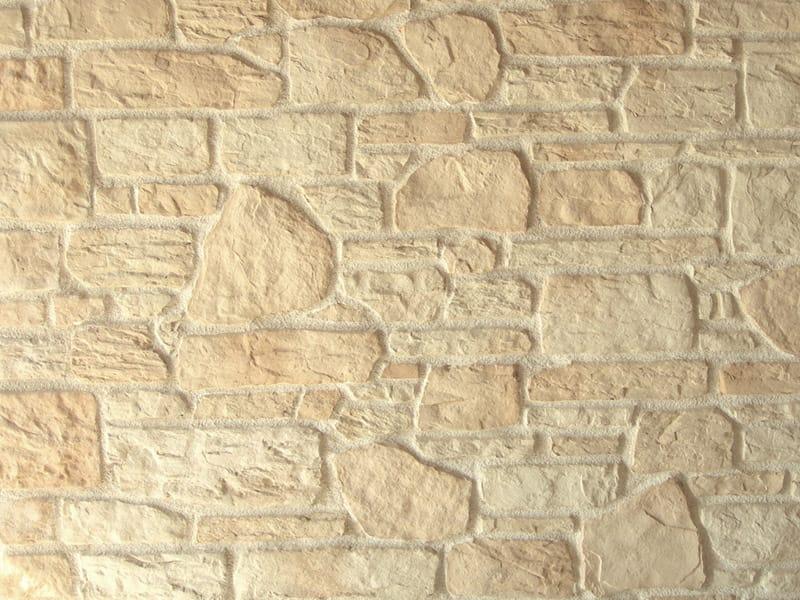 Rev tement mural cologique en pierre reconstitu e pour for Pierre reconstituee exterieur