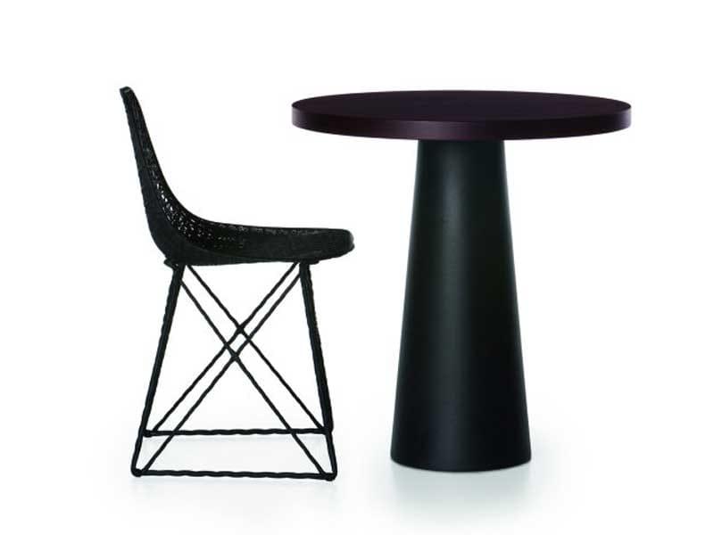 Tavolino alto in resina container table 70x70 round 70 for Table 70x70 design