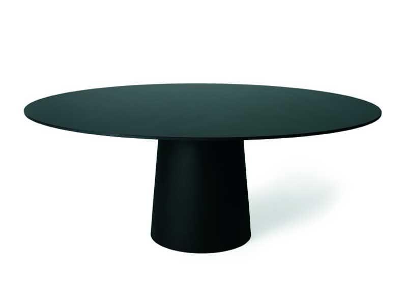 Runder tisch aus kunstharz container table 180 round for Tisch nordic design
