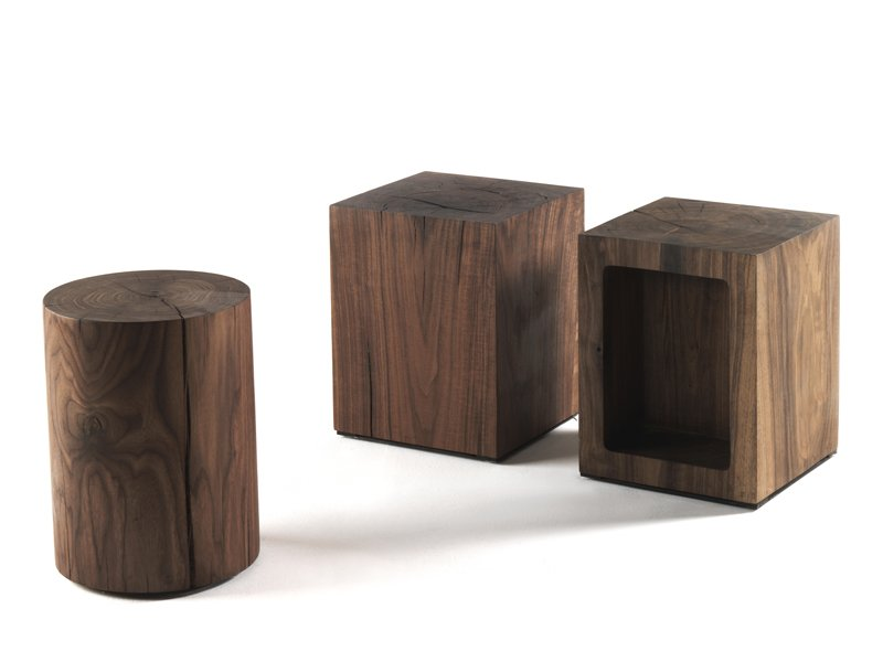 Wooden Coffee Table Boss Block By Riva 1920 Design Maurizio Riva Davide Riva