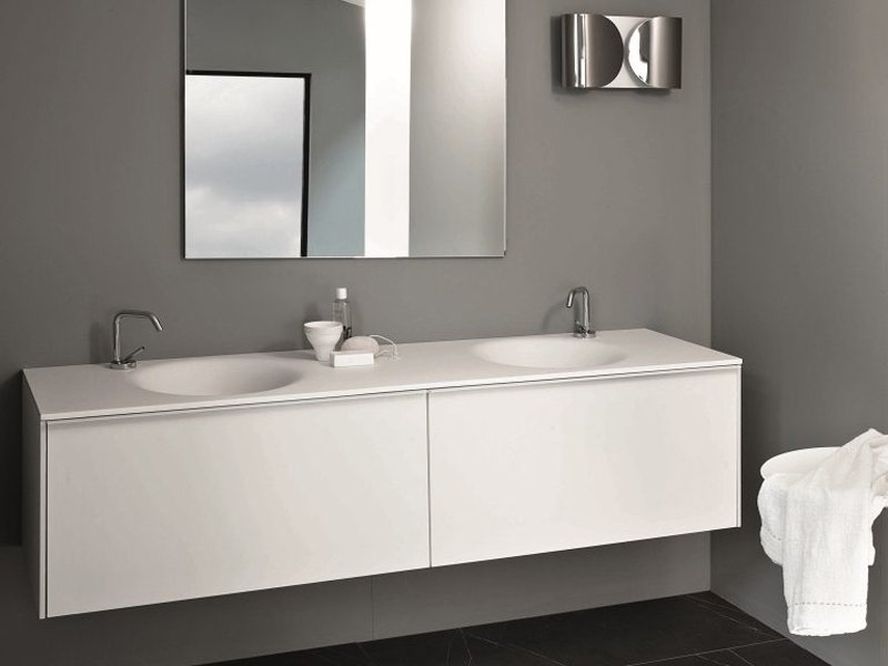 Mobile lavabo sospeso con cassetti morphing unit 180 by kos by ...