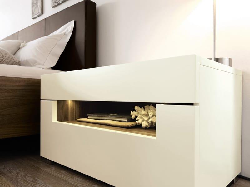 elumo ii nachttisch by h lsta werke h ls. Black Bedroom Furniture Sets. Home Design Ideas