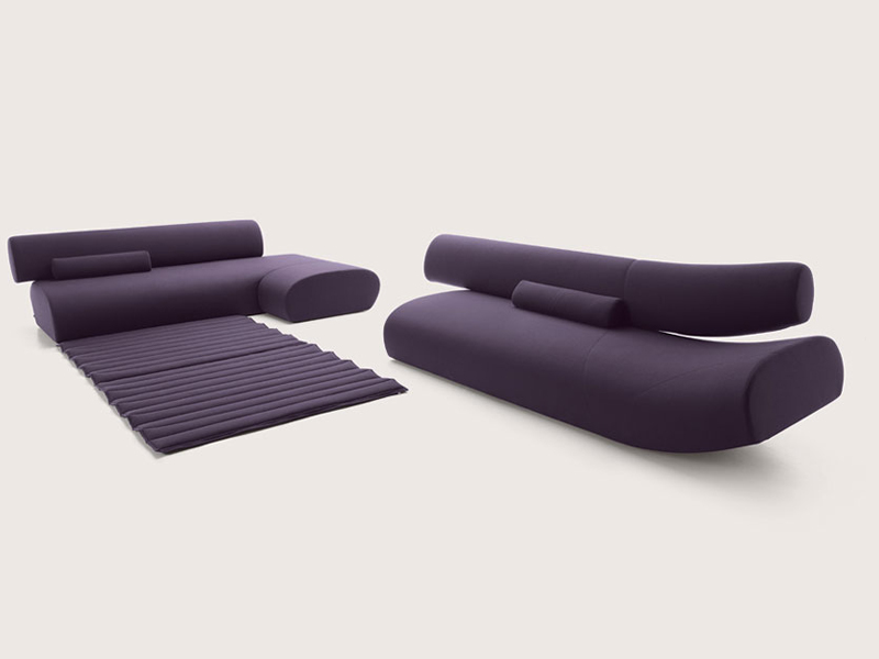 SECTIONAL UPHOLSTERED SOFA LAVA BY COR SITZM BEL HELMUT