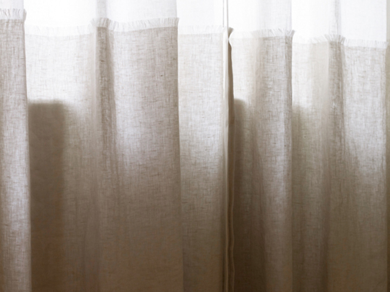 Tessuto in lino per tende lins ineffables by litis - Tende per doccia in lino ...