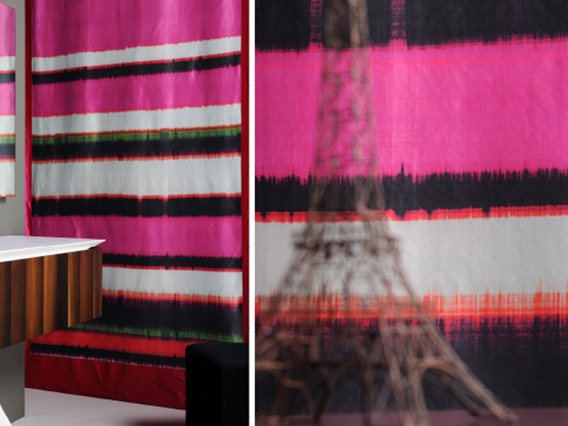 tissu en soie pour rideaux india by litis. Black Bedroom Furniture Sets. Home Design Ideas