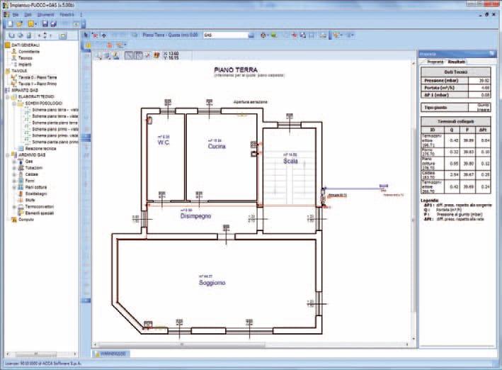 Progettazione reti gas impiantus gas by acca software for Schema impianto gas dwg